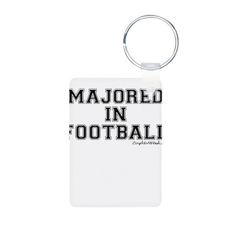Majored In Football Aluminum Photo Keychain
