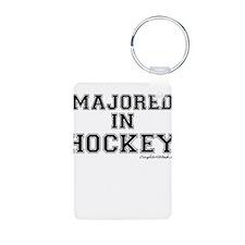 Majored In Hockey Keychains