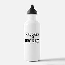 Majored In Hockey Water Bottle