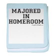 Majored In Homeroom baby blanket
