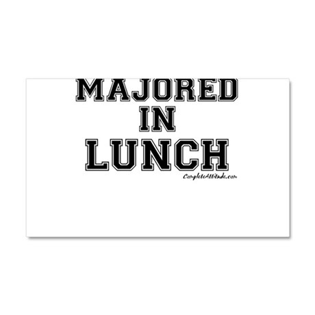 Majored In Lunch Car Magnet 20 x 12