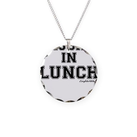 Majored In Lunch Necklace Circle Charm