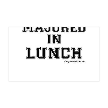 Majored In Lunch 38.5 x 24.5 Wall Peel