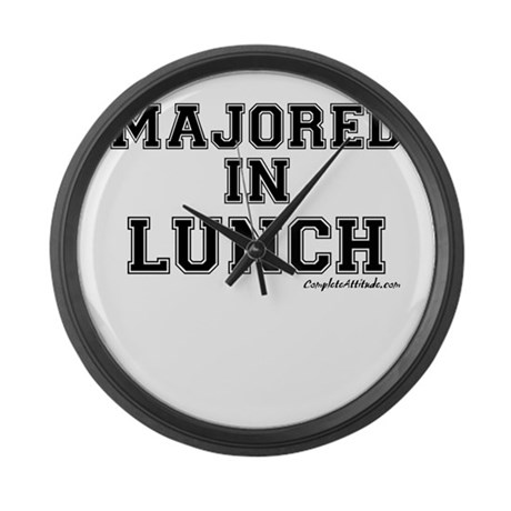 Majored In Lunch Large Wall Clock