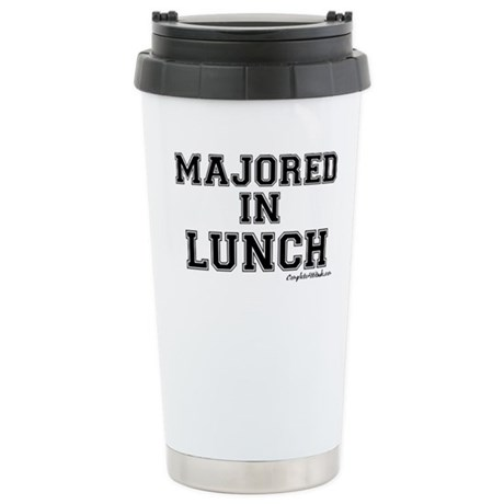 Majored In Lunch Stainless Steel Travel Mug