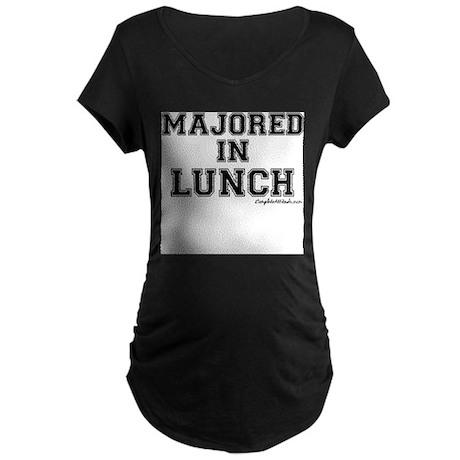 Majored In Lunch Maternity Dark T-Shirt