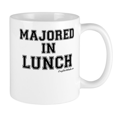 Majored In Lunch Mug