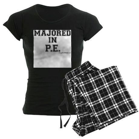 Majored In P.E. Women's Dark Pajamas