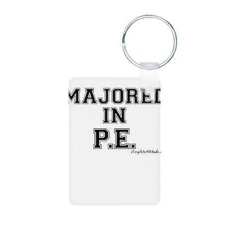 Majored In P.E. Aluminum Photo Keychain