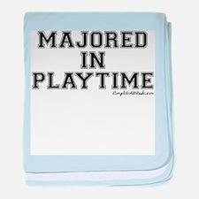 Majored In Playtime baby blanket