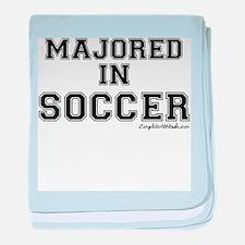 Majored In Soccer baby blanket