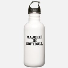 Majored In Softball Water Bottle