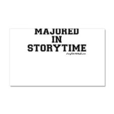 Majored In Storytime Car Magnet 20 x 12