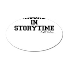 Majored In Storytime 38.5 x 24.5 Oval Wall Peel