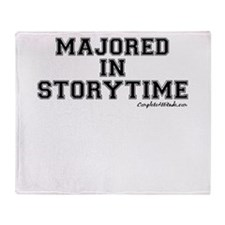 Majored In Storytime Throw Blanket