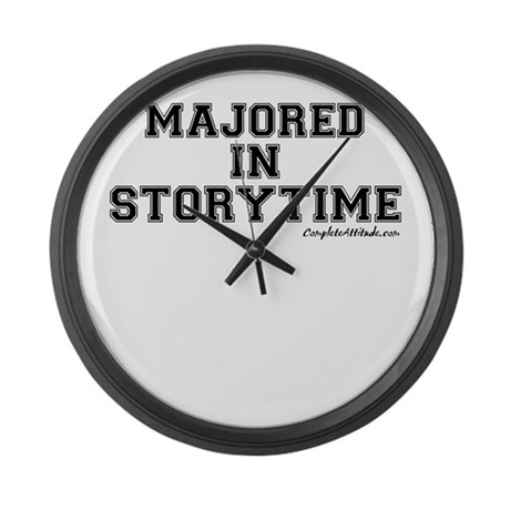 Majored In Storytime Large Wall Clock