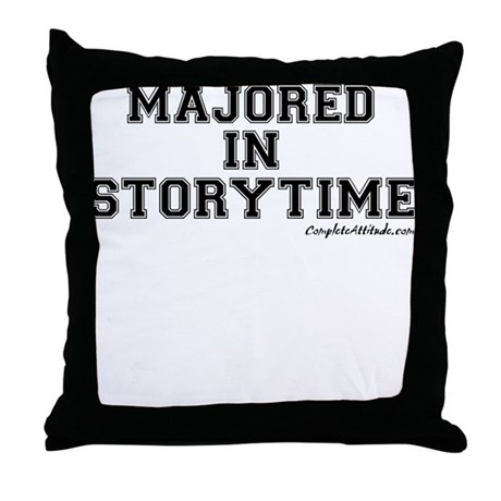 Majored In Storytime Throw Pillow
