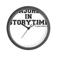 Majored In Storytime Wall Clock