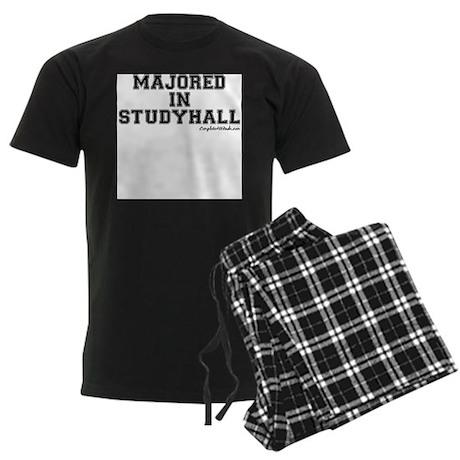 Majored In Studyhall Men's Dark Pajamas