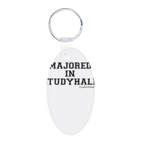 Majored In Studyhall Aluminum Oval Keychain