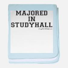 Majored In Studyhall baby blanket