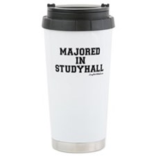 Majored In Studyhall Travel Mug
