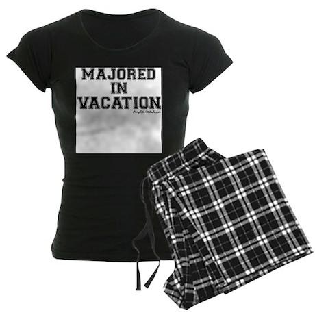 Majored In Vacation Women's Dark Pajamas