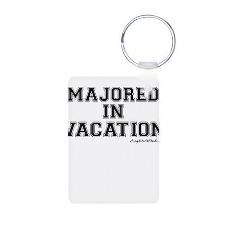 Majored In Vacation Aluminum Photo Keychain