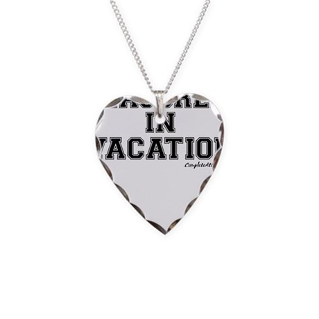 Majored In Vacation Necklace Heart Charm