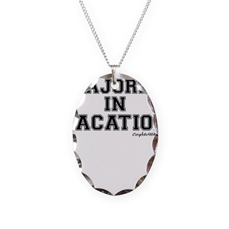 Majored In Vacation Necklace Oval Charm