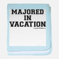 Majored In Vacation baby blanket