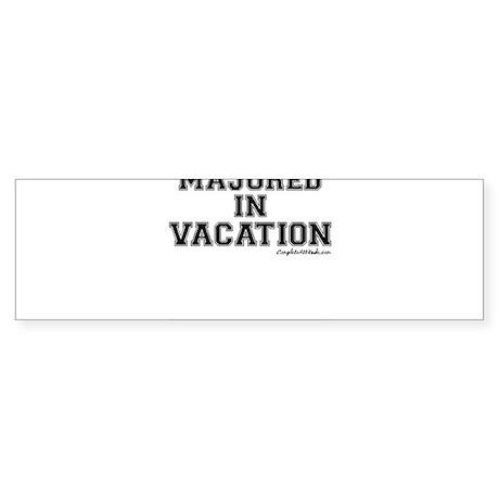 Majored In Vacation Sticker (Bumper)
