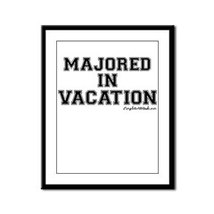 Majored In Vacation Framed Panel Print