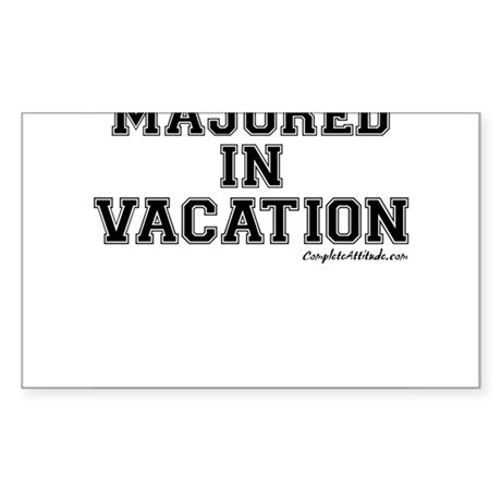 Majored In Vacation Sticker (Rectangle)