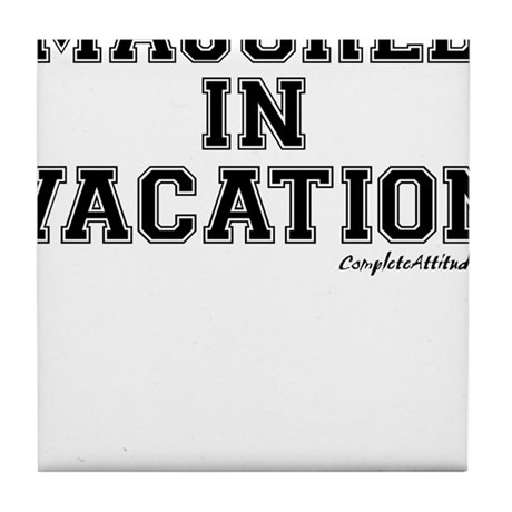 Majored In Vacation Tile Coaster