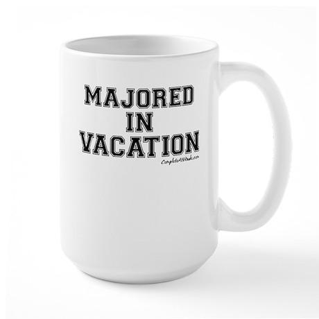 Majored In Vacation Large Mug