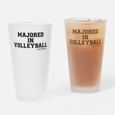 Majored In Volleyball Drinking Glass