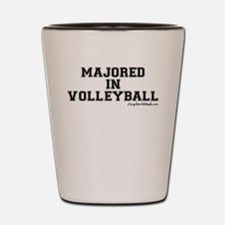 Majored In Volleyball Shot Glass