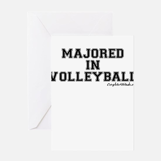Majored In Volleyball Greeting Card