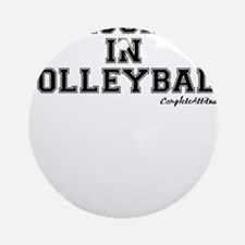 Majored In Volleyball Ornament (Round)