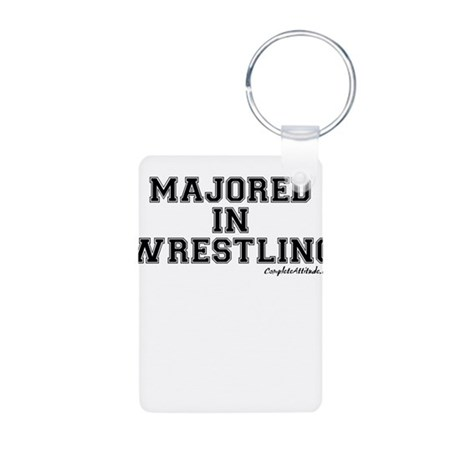 Majored In Wrestling Aluminum Photo Keychain