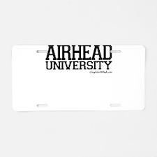 Airhead University Aluminum License Plate