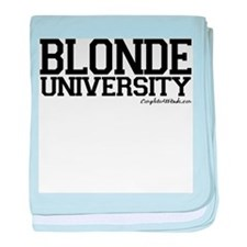 Blonde University baby blanket