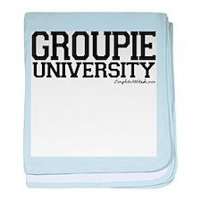 Groupie University baby blanket
