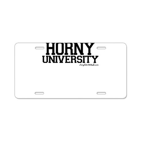 Horny University Aluminum License Plate
