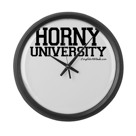Horny University Large Wall Clock
