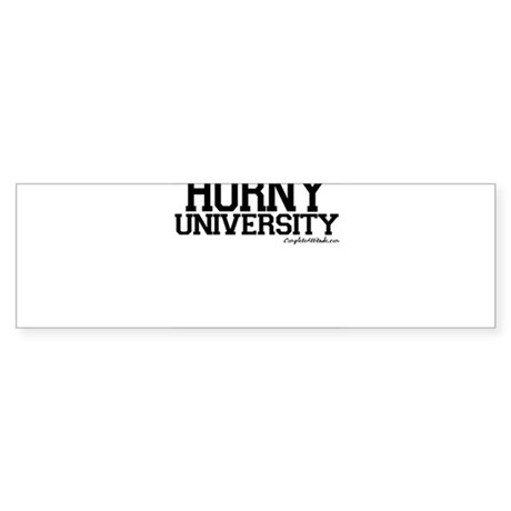 Horny University Sticker (Bumper)