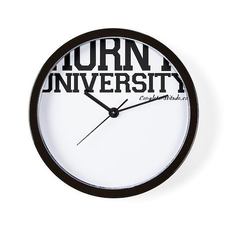 Horny University Wall Clock