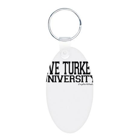 Jive Turkey University Aluminum Oval Keychain