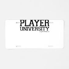 Pecker University Aluminum License Plate